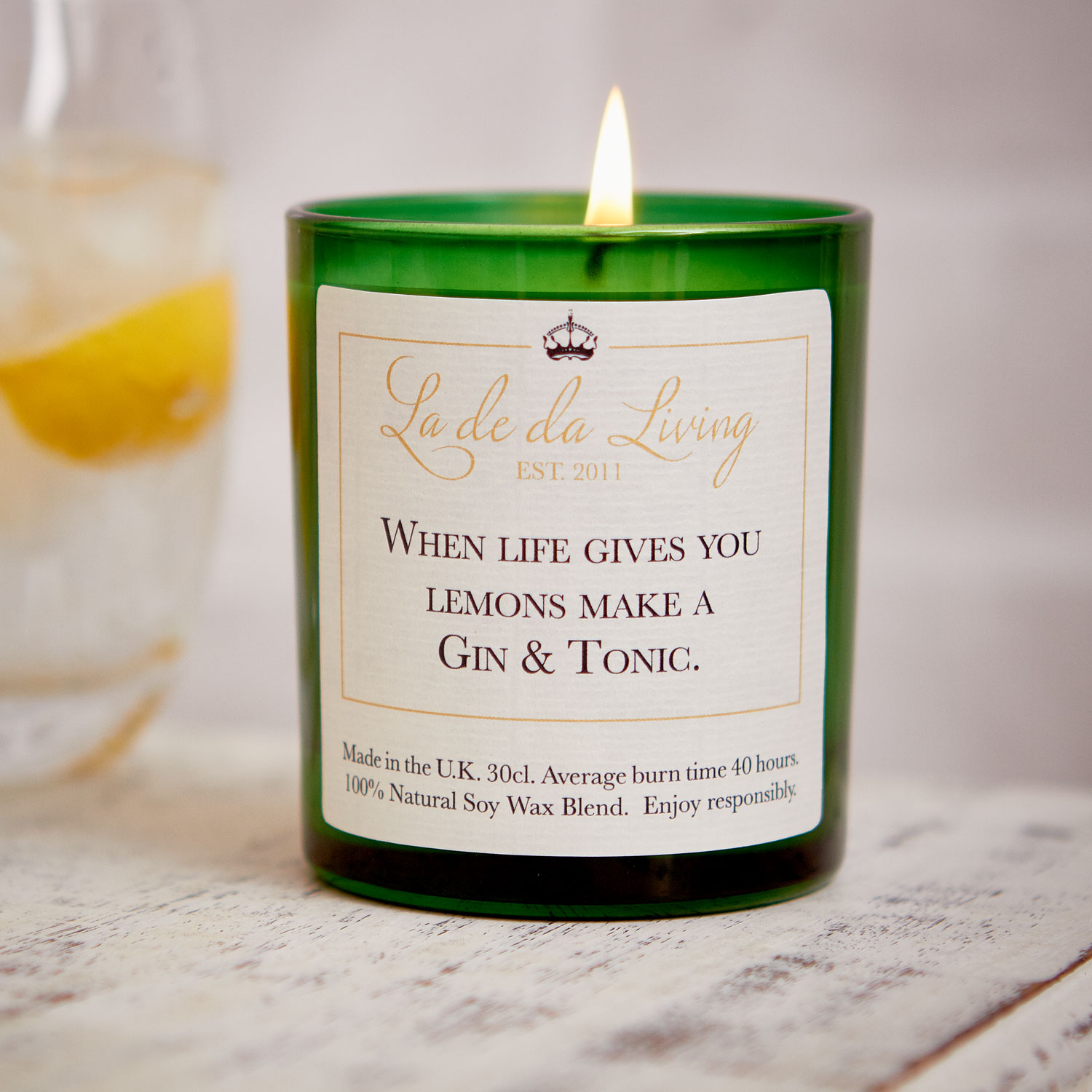 POP Candle | When Life Gives You Lemons Make A Gin & Tonic