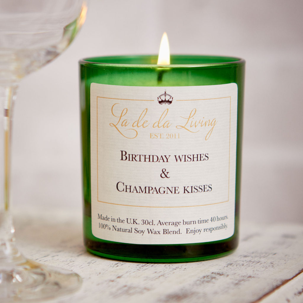 POP Candle | Birthday Wishes & Champagne Kisses