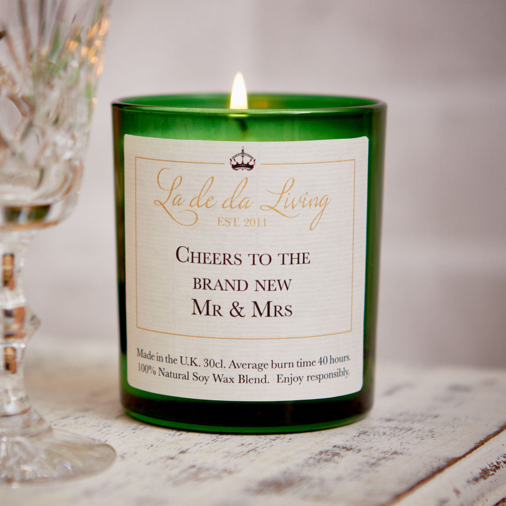 POP Candle ‰| Cheers To The Brand New Mr & Mrs‰