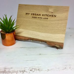 RUSTIC EDGE CHOPPING BOARD | VEGAN KITCHEN