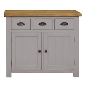 GRESFORD GREY 3 DRAWER 2 DOOR SIDEBOARD