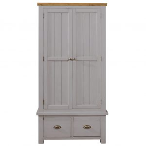 Gresford Grey 2 Door 2 Drawer Wardrobe