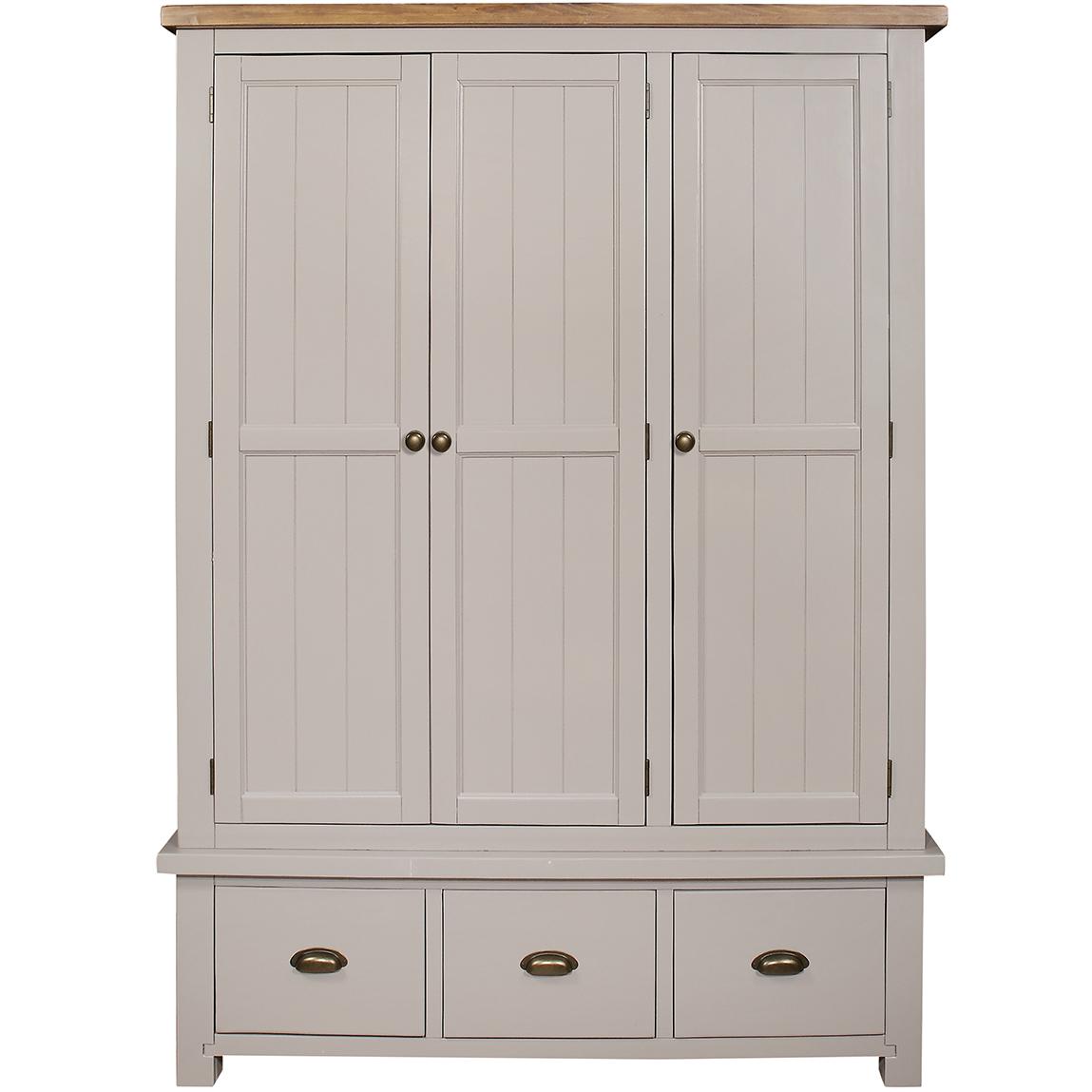 Gresford Grey 3 Door 3 Drawer Wardrobe