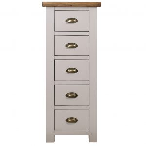 Gresford Grey 5 Drawer Wellington Chest
