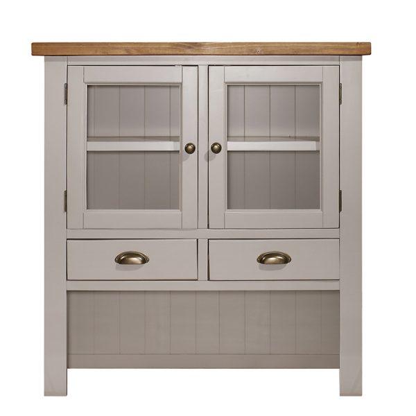 Gresford Grey Hutch 2 Door 2 Drawer Sideboard
