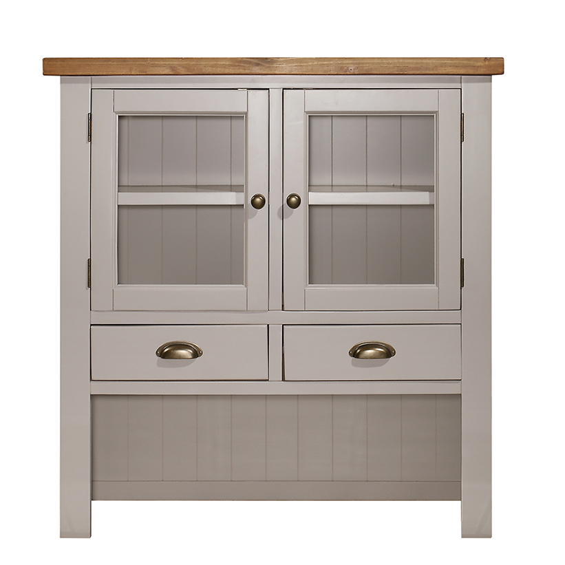 Gresford Grey Hutch 2 Door 2 Drawer Sideboard