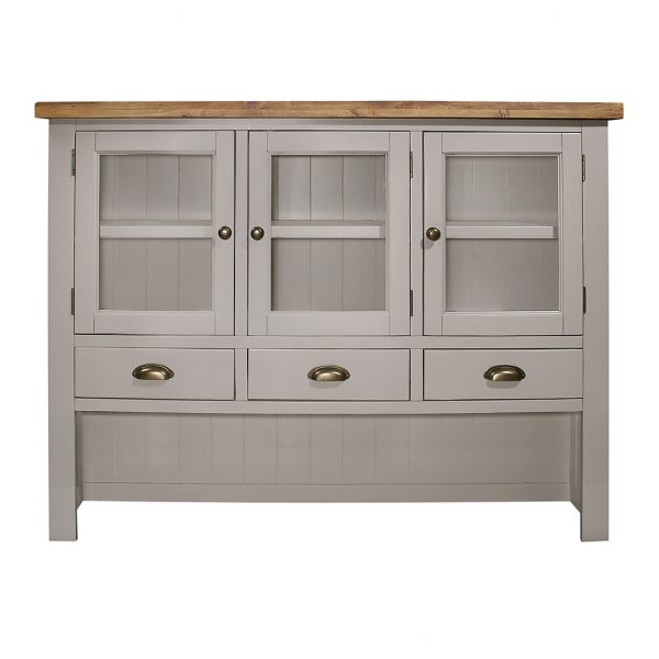 Gresford Grey Hutch 3 Door 3 Drawer Sideboard