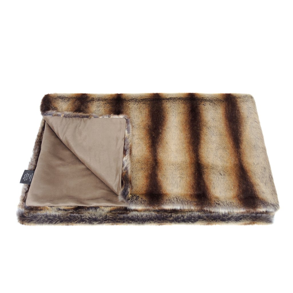 BROWN CHINCHILLA | THROW | FAUX FUR