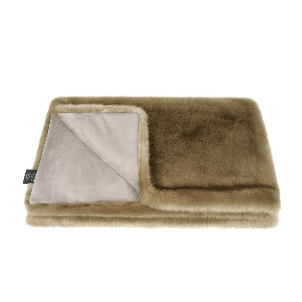 CAMEL | THROW | FAUX FUR