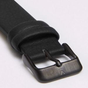 BLACK WITH BRUSHED BLACK BUCKLE | 18MM | VOTCH