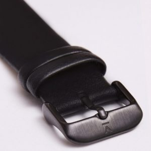 BLACK WITH BRUSHED BLACK BUCKLE | 20MM | VOTCH
