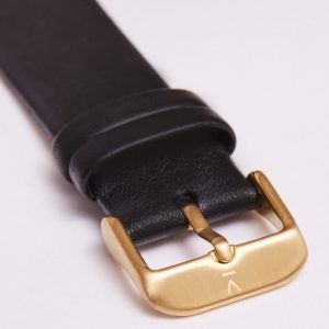 BLACK WITH BRUSHED GOLD BUCKLE | 20MM | VOTCH