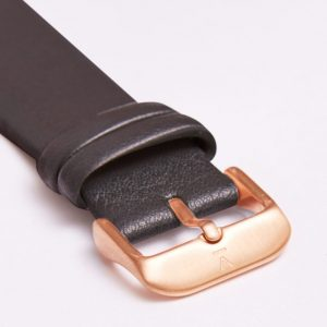 DARK GREY WITH BRUSHED ROSE GOLD BUCKLE | 20MM | VOTCH