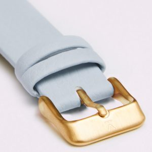 LIGHT BLUE WITH BRUSHED GOLD BUCKLE | VOTCH