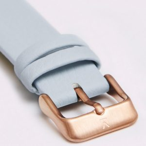 LIGHT BLUE WITH BRUSHED ROSE GOLD BUCKLE | 18MM | VOTCH