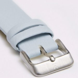 LIGHT BLUE WITH BRUSHED SILVER BUCKLE | 18MM | VOTCH