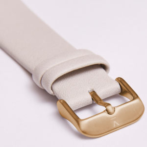 LIGHT GREY WITH BRUSHED GOLD BUCKLE | 20MM | VOTCH
