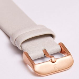 LIGHT GREY WITH BRUSHED ROSE GOLD BUCKLE | 20MM | VOTCH
