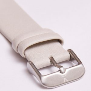 LIGHT GREY WITH BRUSHED SILVER BUCKLE | 20MM | VOTCH