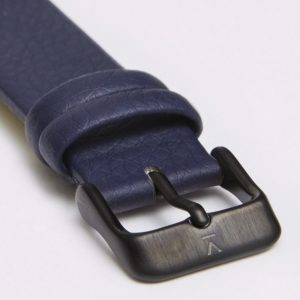 NAVY WITH BRUSHED BLACK BUCKLE | 18MM | VOTCH