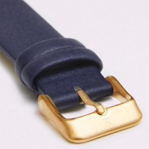 NAVY WITH BRUSHED GOLD BUCKLE | VOTCH