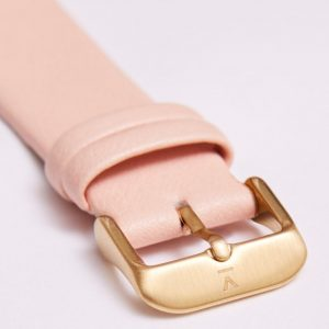PINK WITH BRUSHED GOLD BUCKLE | 20MM | VOTCH