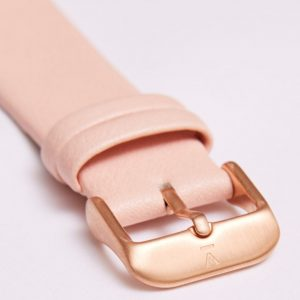 PINK WITH BRUSHED ROSE GOLD BUCKLE | 20MM | VOTCH