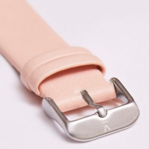 PINK WITH BRUSHED SILVER BUCKLE   20MM   VOTCH