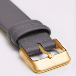SLATE GREY WITH BRUSHED GOLD BUCKLE | VOTCH