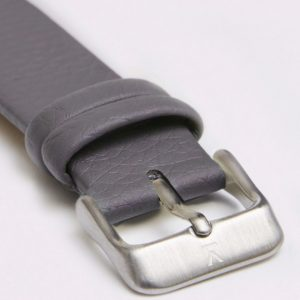 SLATE GREY WITH BRUSHED SILVER BUCKLE | 18MM | VOTCH