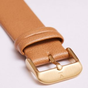 TAN WITH BRUSHED GOLD BUCKLE | 20MM | VOTCH