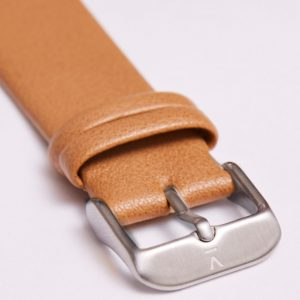 TAN WITH BRUSHED SILVER BUCKLE | 20MM | VOTCH