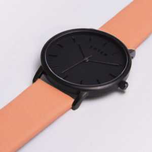 THE ALL BLACK FACE WITH CORAL STRAP | VOTCH
