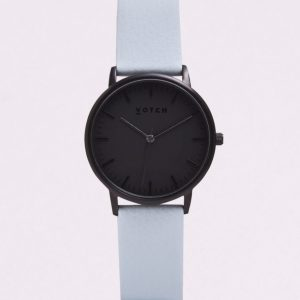 THE ALL BLACK FACE WITH LIGHT BLUE STRAP | VOTCH