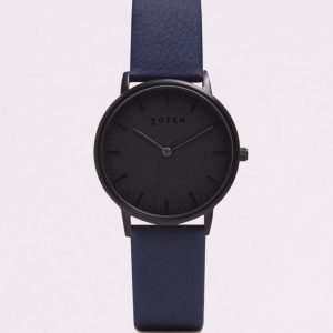 THE ALL BLACK FACE WITH NAVY STRAP | VOTCH