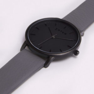THE ALL BLACK FACE WITH SLATE GREY STRAP | VOTCH