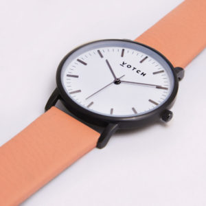 THE BLACK & WHITE FACE WITH CORAL STRAP | VOTCH