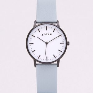 THE BLACK & WHITE FACE WITH LIGHT BLUE STRAP | VOTCH