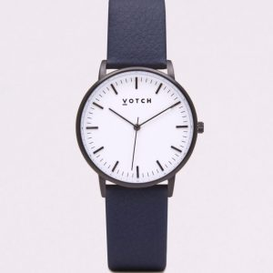 THE BLACK & WHITE FACE WITH NAVY STRAP | VOTCH