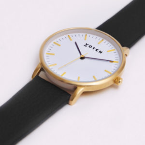 THE GOLD FACE WITH BLACK STRAP | VOTCH