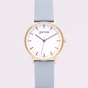 THE GOLD FACE WITH LIGHT BLUE STRAP | VOTCH