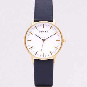THE GOLD FACE WITH NAVY STRAP   VOTCH