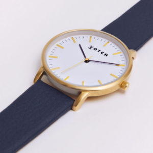 THE GOLD FACE WITH NAVY STRAP | VOTCH