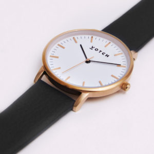 THE ROSE GOLD FACE WITH BLACK STRAP | VOTCH