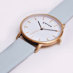 THE ROSE GOLD FACE WITH LIGHT BLUE STRAP | VOTCH