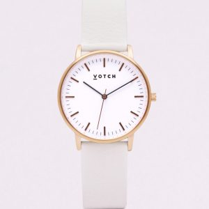 THE ROSE GOLD FACE WITH OFF WHITE STRAP | VOTCH