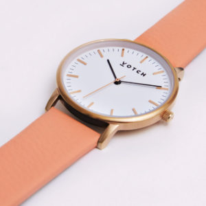 THE ROSE GOLD WITH CORAL STRAP | VOTCH