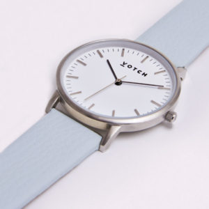 THE SILVER FACE WITH LIGHT BLUE STRAP | VOTCH