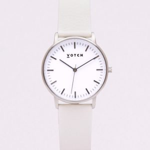 THE SILVER FACE WITH WHITE STRAP | VOTCH