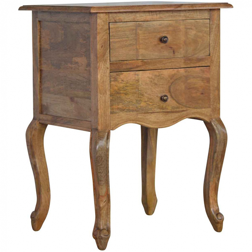 Mango Hill 2 Drawer Bedside with French Design Legs
